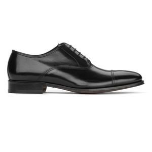 TO BOOT- Aiden Black cap toe business lace up